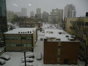 Edmonton after a snow dump this week.