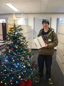 Joe and his iPad 2 get festive.