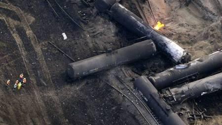 Gainford train derailment. Photo courtesy of The Globe and Mail.