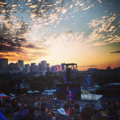 Photo I took at last year's Edmonton Folk Music Festival. Pure bliss.