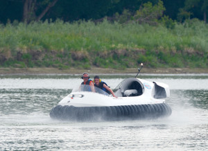 The hovercraft in action. Image credit: medicinehatnews.com